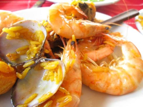 Paella seafoods